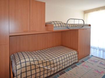 Ferienwohnung Comer See - Schlafzimmer mit Etagenbetten