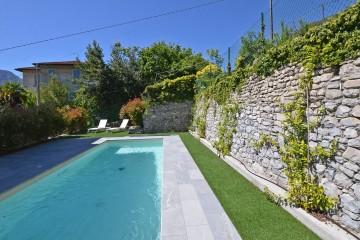 Pool der Villa Mezzegra - Ferienwohnung Comer See